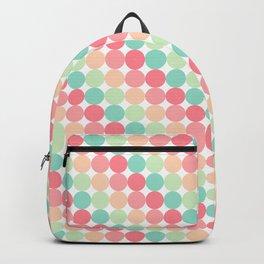 bubble gum polka dot stripes Backpack