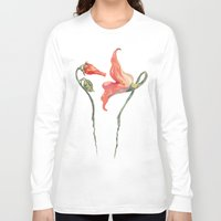 floyd Long Sleeve T-shirts featuring Pink Floyd 's Flower  by Blaz Rojs