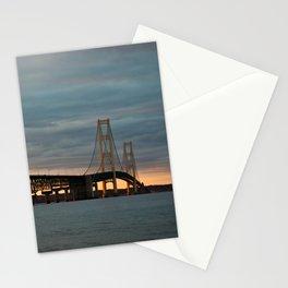 Sunset at the Mackinac Bridge Stationery Cards