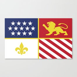 City of Detroit Flag in Minimal Design | Coat of Arms Canvas Print
