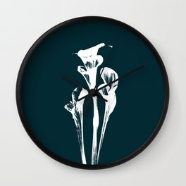 Calla Lily - Navy Wall Clock