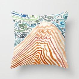 Mount Fuji Migraine Throw Pillow