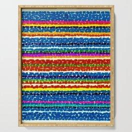 African American Masterpiece 'Light Blue Nursery No. 2'' by Alma Thomas Art Print Serving Tray