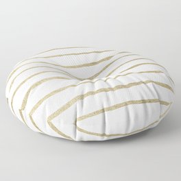Gold Stripes Floor Pillow