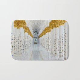 Down the golden white Bath Mat