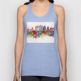 Atlanta V2 skyline in watercolor background Unisex Tank Top