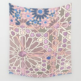 Pink moroccan pattern Wall Tapestry
