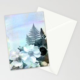 baby blue floral pattern Stationery Cards