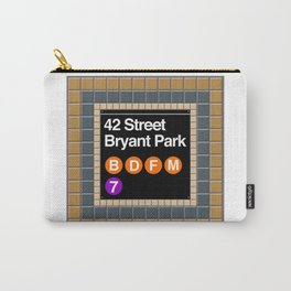 subway bryant park sign Carry-All Pouch