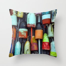 Float on a wall, Color, Cape Cod Throw Pillow