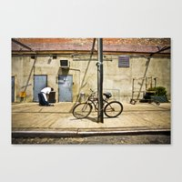 packers Canvas Prints featuring Meat Packers by Charles Butterworth