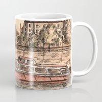 budapest Mugs featuring Budapest Art by Daria Kotyk