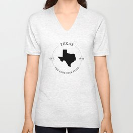 Texas - The Lone Star State Unisex V-Neck