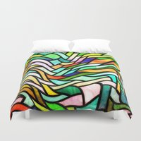 stained glass Duvet Covers featuring Stained glass by haroulita
