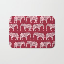 Alabama bama crimson tide elephant state college university pattern footabll Bath Mat