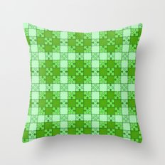 Puzzle Pattern,green Throw Pillow