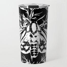 butterfly black Travel Mug