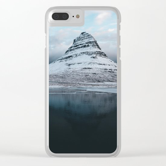 Iceland Mountain Reflection - Landscape Photography Clear iPhone Case