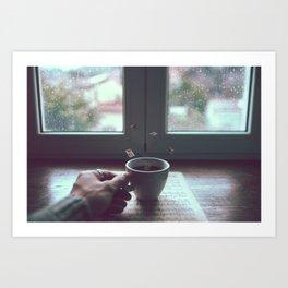 Rain Music Cafè Art Print