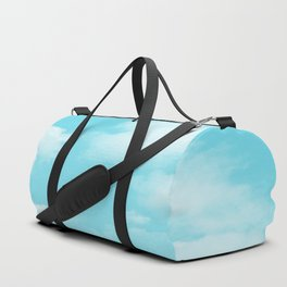 Aqua Blue Clouds Duffle Bag