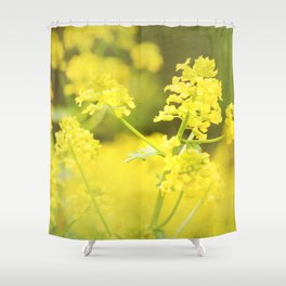Floral Page Shower Curtain