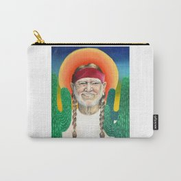 Willie Nelson Sunset Cactus Painting Carry-All Pouch