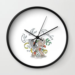 Hand Drawn Illustrations The Hot Kitchen Gift Wall Clock