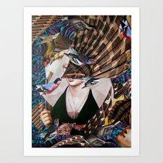Madchen_Portrait with (Dark Jungle) Art Print