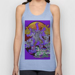 Other Worlds: Wizzin' all Over the Flora Unisex Tank Top