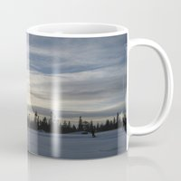 norway Mugs featuring Trysil, Norway by Aziza Azul