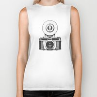 vintage camera Biker Tanks featuring Camera by danielrafalski