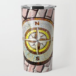 Compass Rose On Brick Street Travel Mug