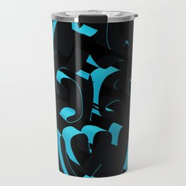 3D Abstract Ornamental Background Travel Mug