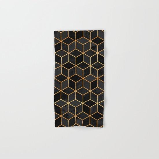 Black Cubes Hand & Bath Towel