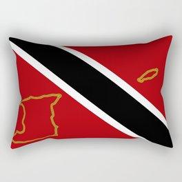 Trinidad and Tobago Flag with Island Maps Rectangular Pillow