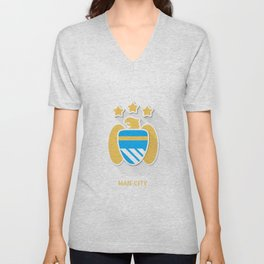 Manchester City Smooth Logo Unisex V-Neck