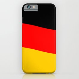 Black Red and Yellow German Flag Wave iPhone Case