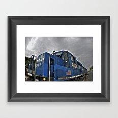 Cloudy day train Framed Art Print