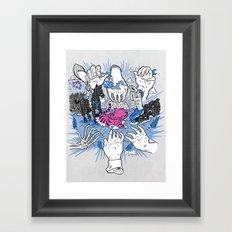 Foul Fingers Framed Art Print