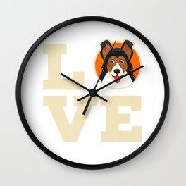 Longhaired Collie Dog Love Dog Fan Cute Design Wall Clock
