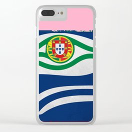 Portuguese Seahawks Hot Pink Clear iPhone Case
