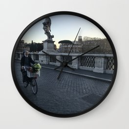 Flower Delivery Wall Clock