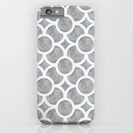 Circular Trellis - Grey Pencil iPhone Case