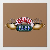 central perk Canvas Prints featuring FRIENDS - Central Perk by La Cantina