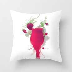 Sorbet fraises chantilly painting colors fashion Jacob's Paris Throw Pillow