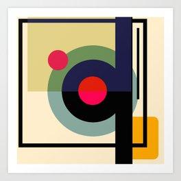 Abstract shapes, brig Art Print