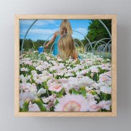 In a sea of Sweet William Framed Mini Art Print