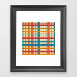 Plaid pattern Framed Art Print