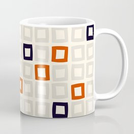 Hand drawn squares geometric pattern Coffee Mug
