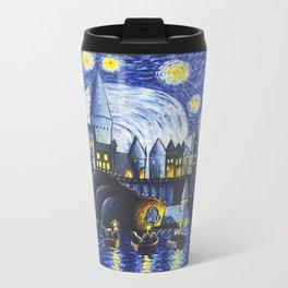 Starry Night At Hogwarts Metal Travel Mug